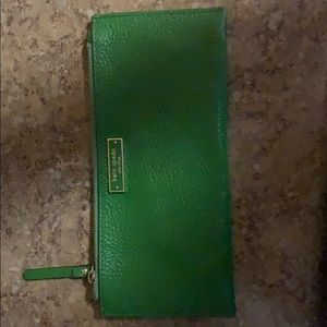 Green Kate Spade Wallet Thin Clutch